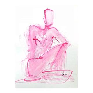 Pink Wash Figure Study Drawing by Haley Mathewes