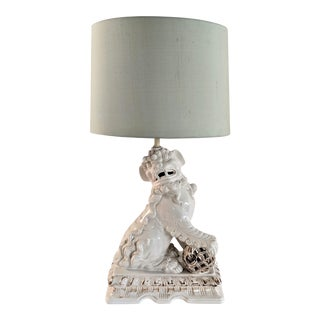 Asian Ceramic Foo Dog Table Lamp For Sale