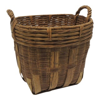 Vintage Round Country Basket