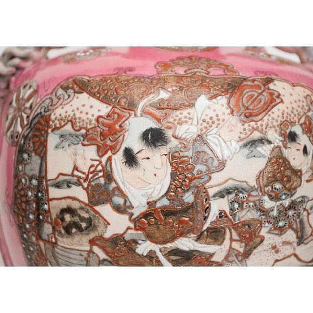 Meiji Era Japanese Satsuma Vase as Lamp For Sale - Image 10 of 13