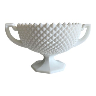 Westmoreland Sawtooth Milk Glass Compote For Sale