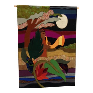 Helen Weber Fabric Collage Tapestry For Sale