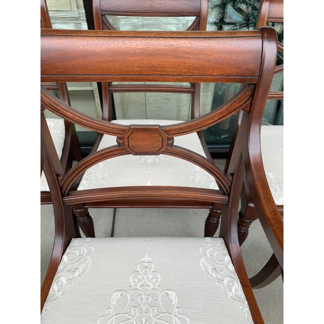 Vintage Berkey and Gay Dining Table and 7 Chairs - 8 Pieces For Sale - Image 11 of 13