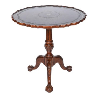Tilt Top Pedestal Base Table For Sale