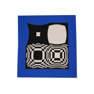Victor Vasarely Signed Op Art Limited Edition Serigraph For Sale