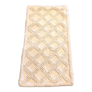 Bohemian White Wool Rug - 1′9″ × 3′2″ For Sale