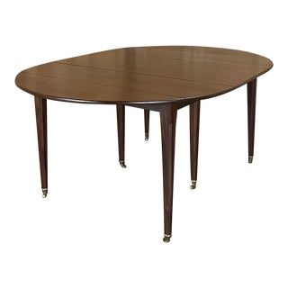 19th Century English Mahogany Drop Leaf Dining Table For Sale