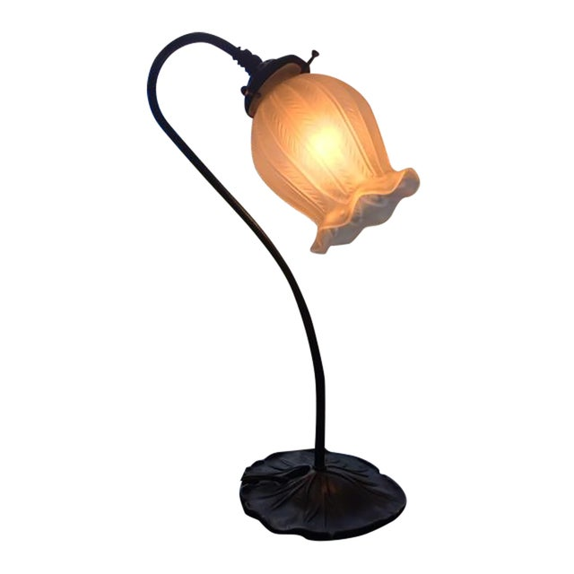 Vintage Antique Bronze Lamp - Image 1 of 4