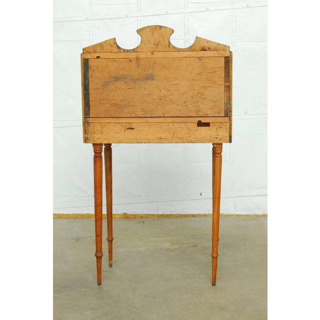 Early 19th Century 19th Century Diminutive Pine Slant Front Desk For Sale - Image 5 of 11