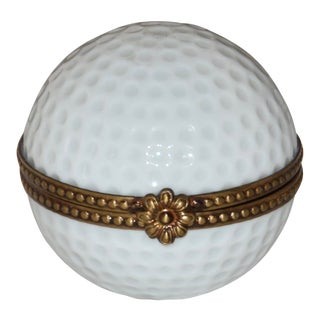 Early 21st Century Vintage Rochard Limoges Golfball Trinket Box For Sale