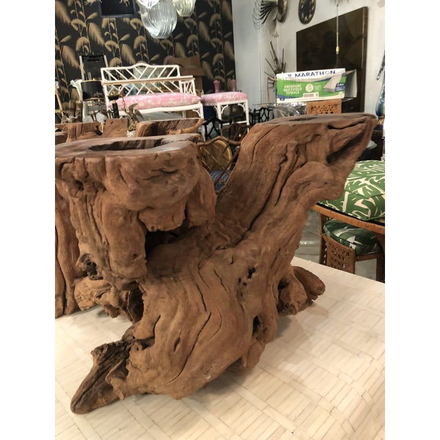 Driftwood Vintage Palm Beach Driftwood Cypress Coffee Cocktail Table For Sale - Image 7 of 13