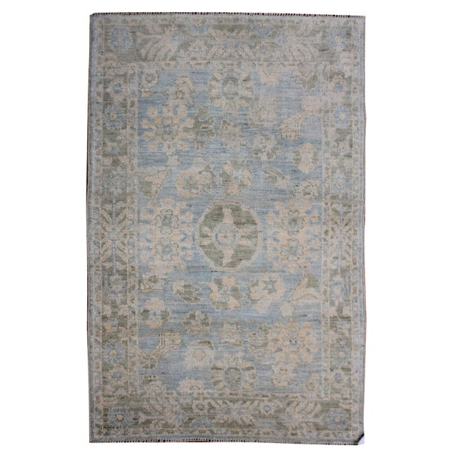 """Aara Rugs Inc. Hand Knotted Oushak Rug - 8'0 X 5'3"""" For Sale"""