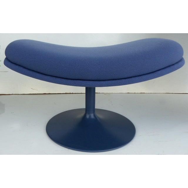 Mid-Century Modern Geoffrey Harcourt Chair & Ottoman For Sale - Image 9 of 11