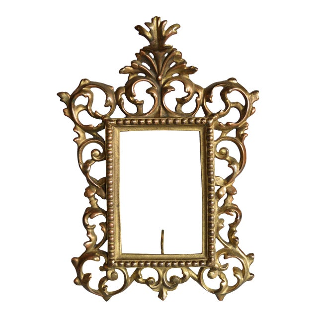 Rococo Style Gilt Brass Photo Frame - Image 1 of 5