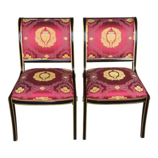 Antique American Empire Mahogany Gentlemans Chairs- A Pair For Sale