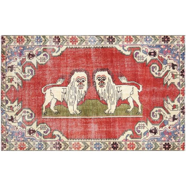 "Textile Nalbandian - 1960s Turkish Oushak Rug - 4'4"" X 6'8"" For Sale - Image 7 of 7"
