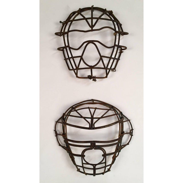 Antique Collection of Nine Metal Catchers Masks - Image 2 of 7