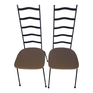Pair of Arthur Umanoff Ladder Back Chairs For Sale