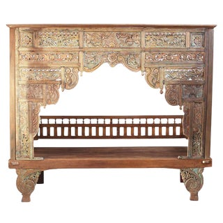 Balinese Teak Canopy Bed