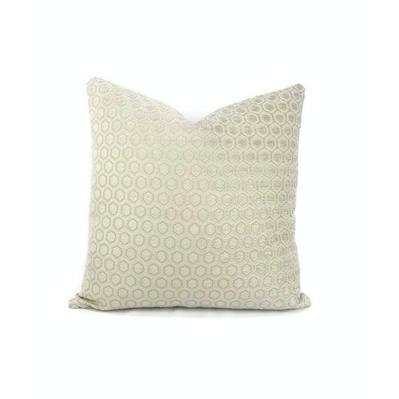 Textile Jim Thompson Intara Seafoam Light Sage Chenille Pillow Cover For Sale - Image 7 of 7