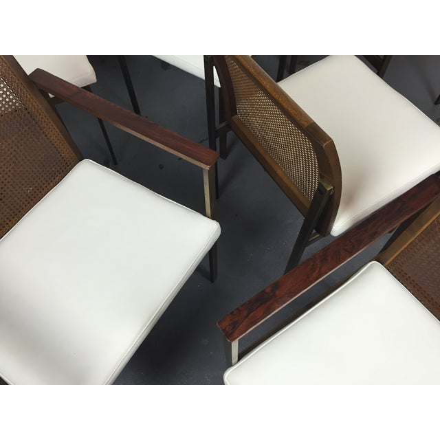 Paul McCobb Cane & Leather Dining Chairs - S/6 - Image 6 of 11