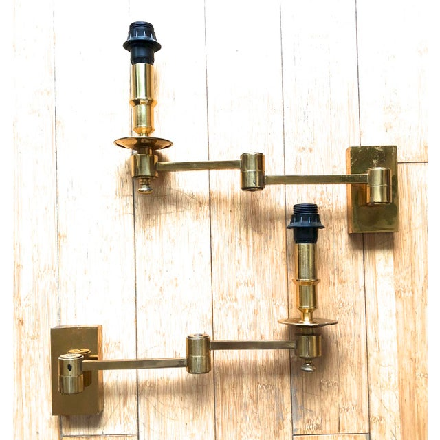 Art Deco Maison Jansen Pair of Extendable Sconces For Sale - Image 3 of 7