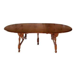 Antinque 19th C. Walter of Wabash Oval Drop-Leaf Dining Table