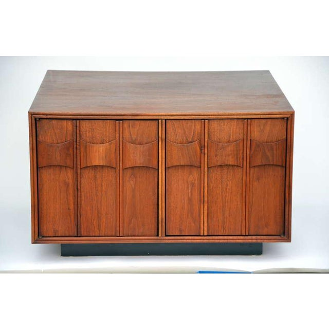 Rare Carved Walnut Cabinet by Brown Saltman For Sale - Image 10 of 10