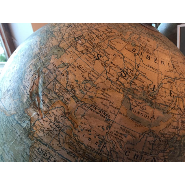 Early 20th Century French Plaster Globe For Sale - Image 9 of 10