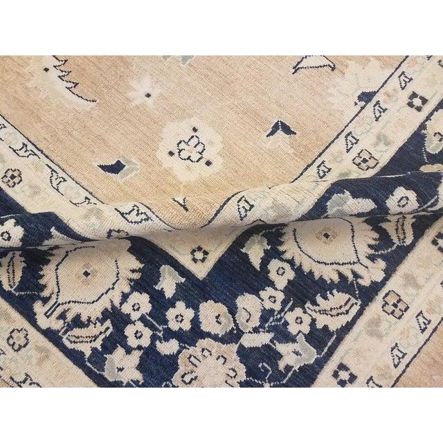"2000 - 2009 Kafkaz Peshawar Angelina Brown & Blue Wool Rug - 10' x 13'9"" For Sale - Image 5 of 7"