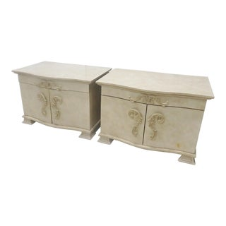 Platt Collection Faux Painted Nightstands - A Pair