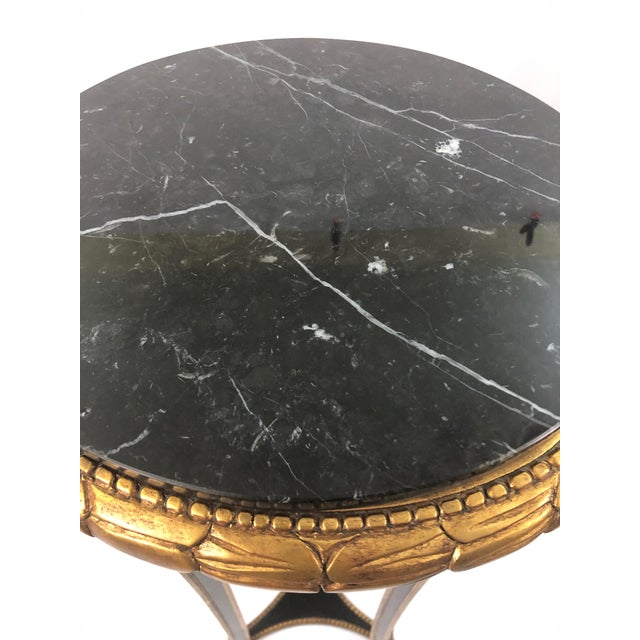 Regency Style Custom Black and Gold Stand For Sale - Image 9 of 10