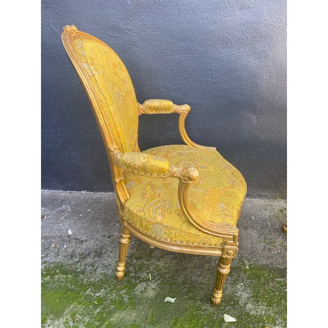 19th C. English Giltwood Armchairs - a Pair For Sale - Image 9 of 13