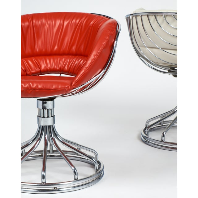 Warren Platner Style Chrome Chairs - A Pair For Sale - Image 9 of 11