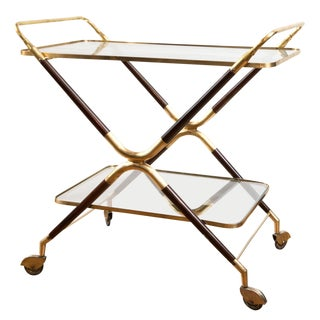 Italian Vintage Bar Cart For Sale
