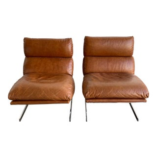 "Pair of ""Arc"" Lounge Chairs by Kipp Stewart for Directional For Sale"