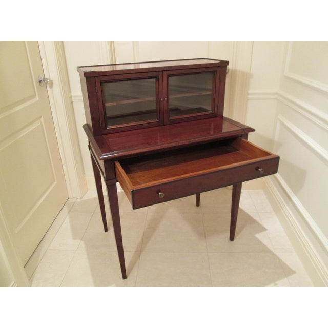 Grange Writing Desk with Curio For Sale - Image 7 of 12