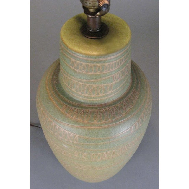 1950s Modern Ceramic Lamp by Design Technics For Sale In New York - Image 6 of 7