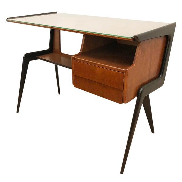 Brown Italian Mid-Century Desk in the Manner of Silvio Cavatorta For Sale - Image 8 of 8