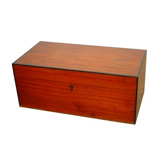 Anglo- Indian Teak Treasure Chest For Sale