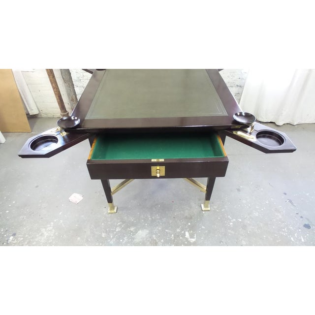 Metal Secessionist Game Table with Synchronized Mechanical Trays For Sale - Image 7 of 8