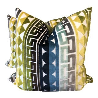 "Kravet ""Seurat"" in Seaside 22"" Pillows-A Pair For Sale"