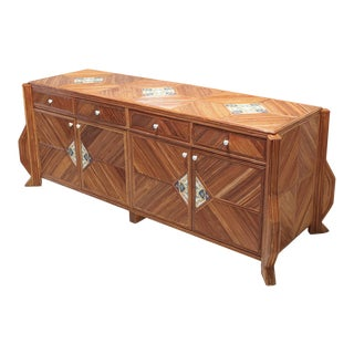 Credenza in Bamboo and Ceramic by Vivai Del Sud For Sale