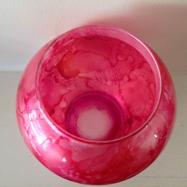 Vibrant Pink Glass Ginger Jar For Sale - Image 5 of 7
