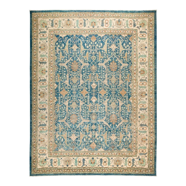 """Oushak Hand Knotted Area Rug - 9' 3"""" X 12' 1"""" - Image 1 of 4"""
