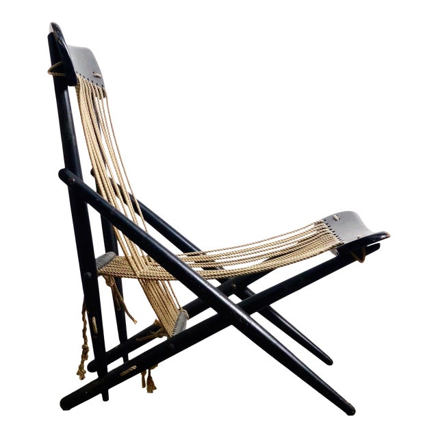 Rare Maruni Rope Lounge Chair, Japan Circa 1950's For Sale
