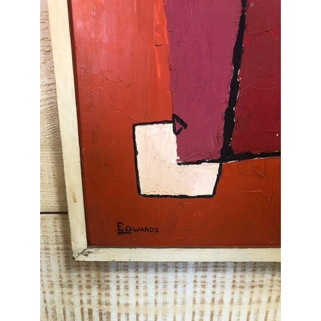1960s Mid-Century Oil Painting by Edwards For Sale - Image 5 of 6