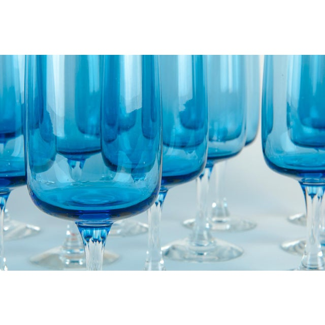 Mid 20th Century Vintage Crystal Wine / Water Barware Glasses - Set of 16 For Sale - Image 5 of 9