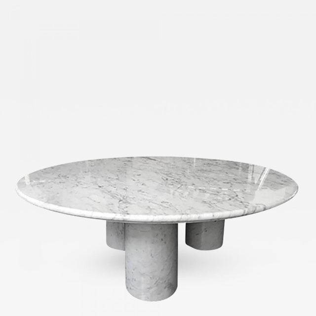 "Mid-Century Modern 1970s Mario Bellini Carrera Marble ""Il Colonnato"" Coffee Table For Sale - Image 3 of 3"