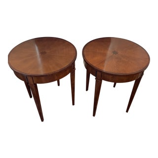 Arteriors Home Geneva Tables in Brown Walnut - A Pair For Sale